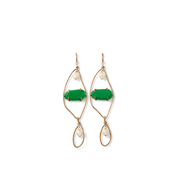 Emerald Resin Earrings  Marni  $680