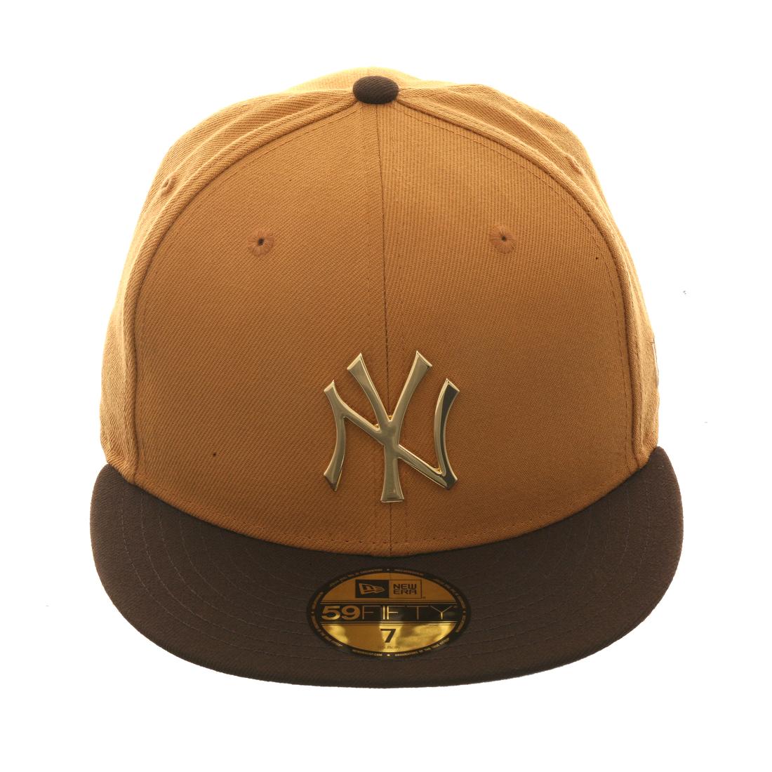 b42aeabe3a6 Exclusive New Era New York Yankees Metal Hat - 2T Tan