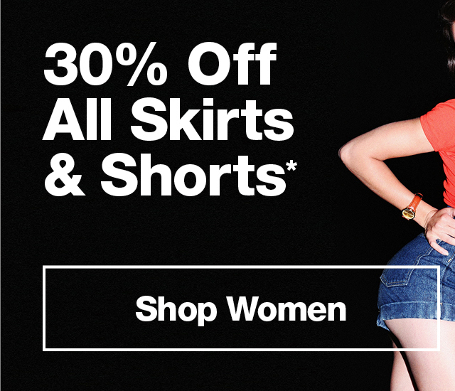30% Off All Skirts & Shorts*