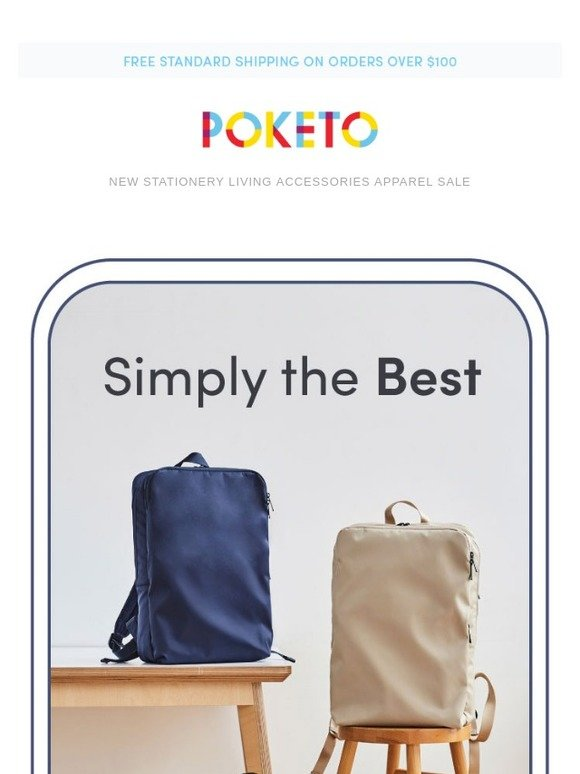 poketo new the simple backpack dtla market bag milled