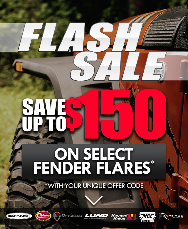 Save 10% on Select Fender Flares