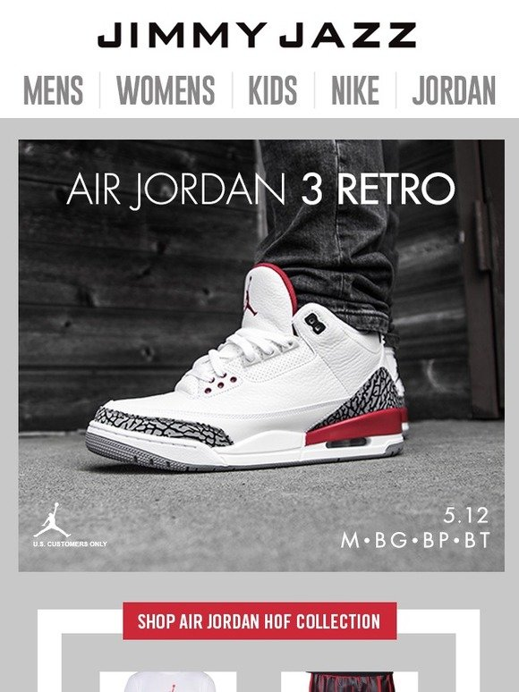 9e45d151e0c Jimmy Jazz  Jordan Retro 3 Hall of Fame Collection Available Now ...