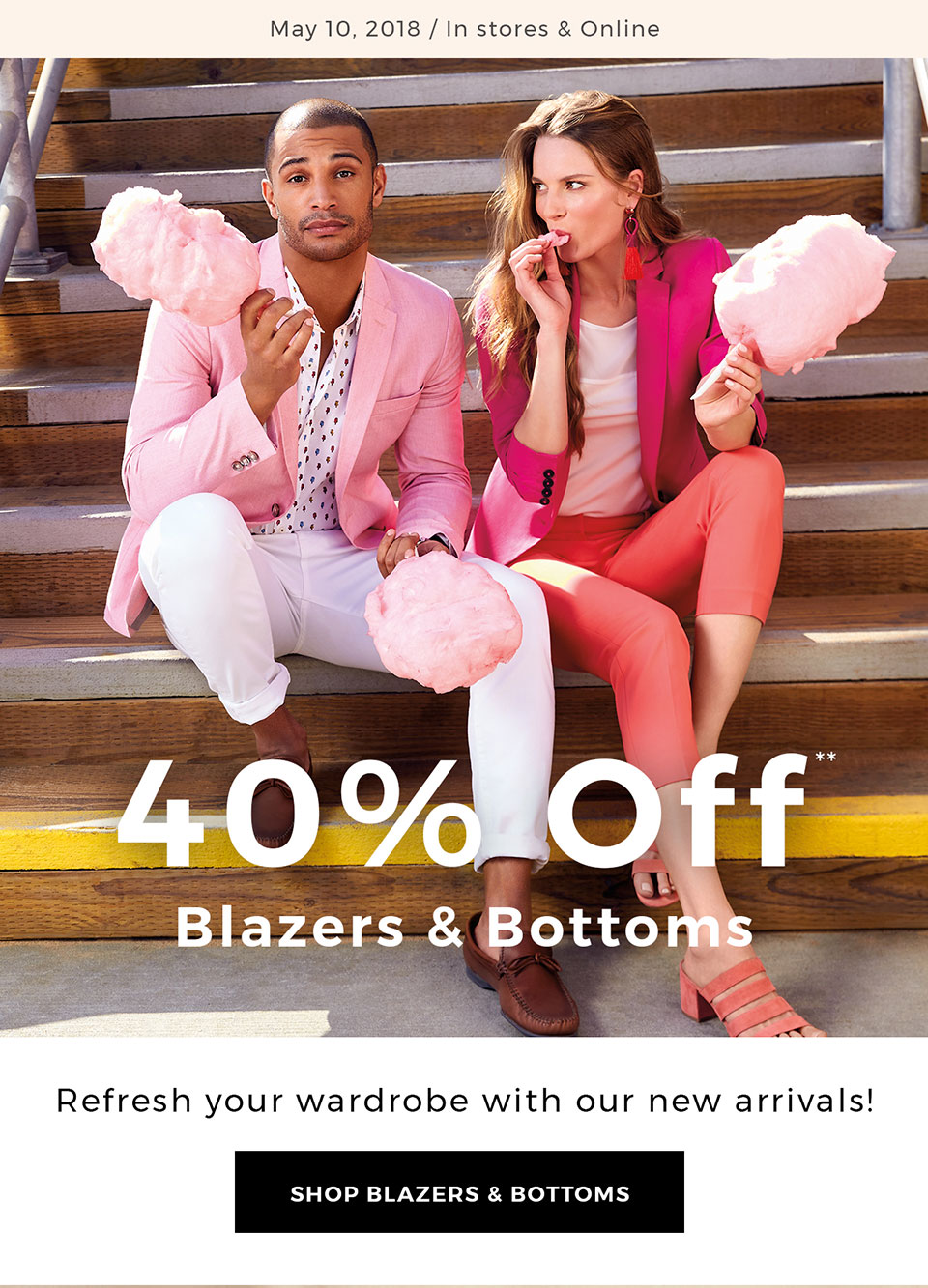 Work it: 40% off bottoms and blazers