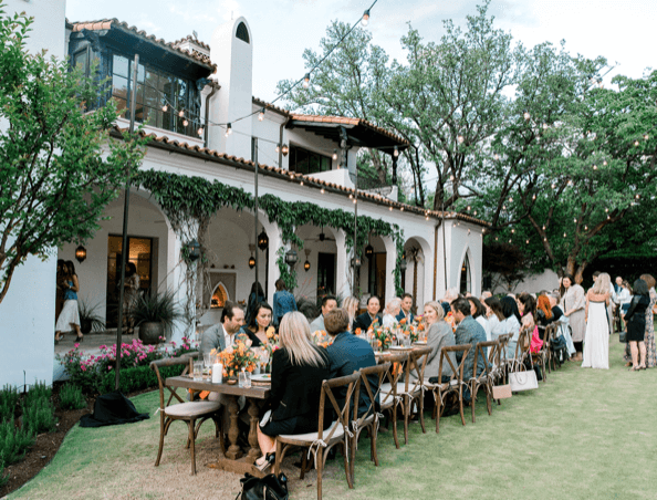 How Dallas Does a Backyard Dinner Party
