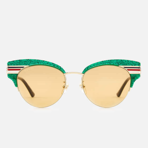 Gucci Women's Glitter Cat Eye Sunglasses