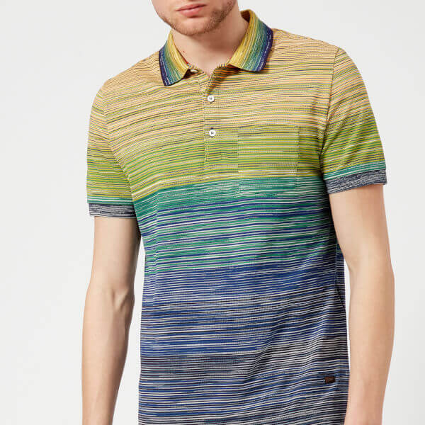 Missoni Men's Multi Stripe Classic Polo Shirt