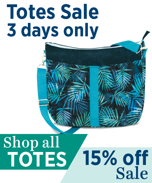 15% off all totes through 5-13, use code TOTEBAG at checkout