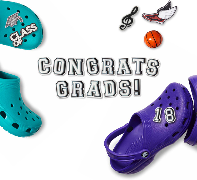 5e7a71208e0 Graduate with personalized clogs and school-themed Jibbitz™ charms 🎓