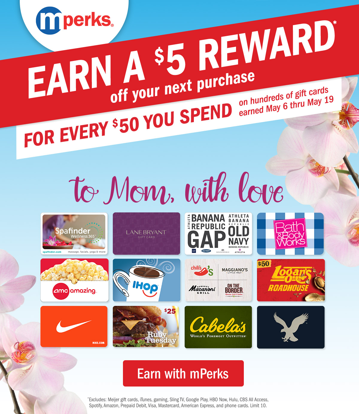 meijer mother s day gift cards for last minute gifts milled