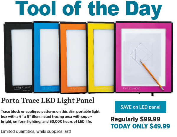 Tool of the day: Porta-Trace LED Light Panel, $49.99 today only 50% off