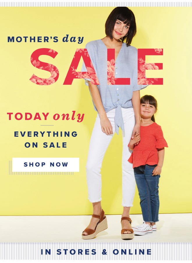 Mother's Day Sale Today Only