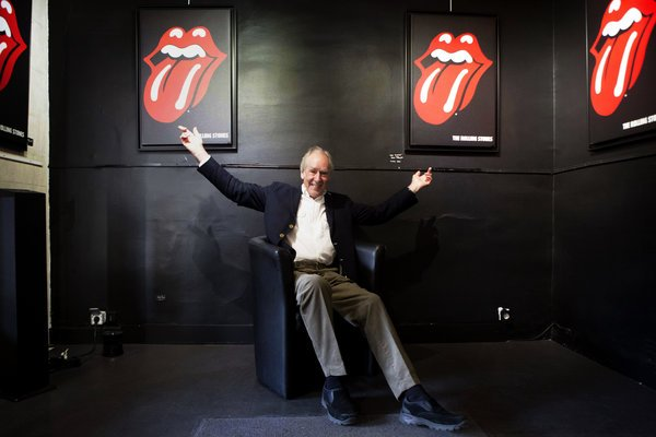 John Pasche, who designed the Hot Lips logo for the Rolling Stones.