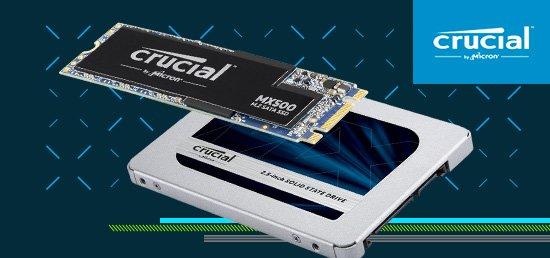 SSD crucial MX500 format m.2 & sata
