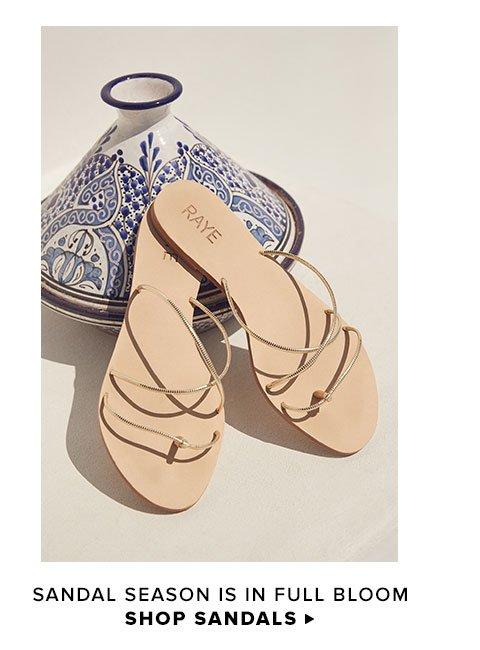 Sandal season is in full bloom. Shop Sandals.