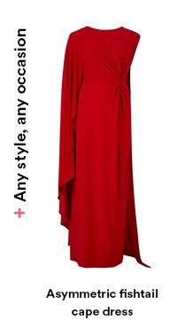 Asymmetric cape dress