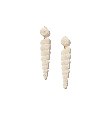Rebecca De Ravenel Large Twisty Silk-Cord Earrings, $365