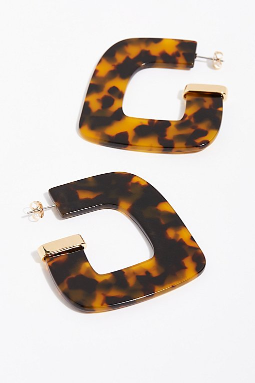 Faraway Resin Hoop Earrings