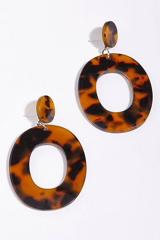 Lucy Resin Hoop Earrings