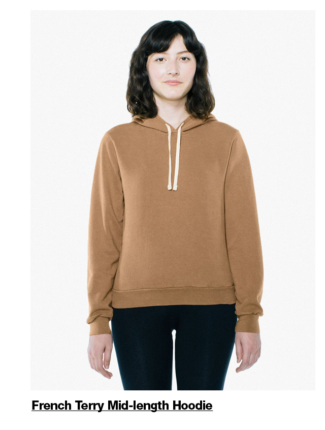French Terry Mid-length Hoodie