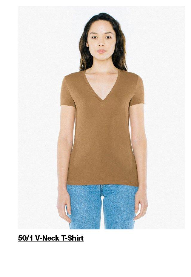 50/1 Women's V-Neck T-Shirt