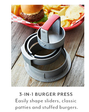 3-in-one Burger Press