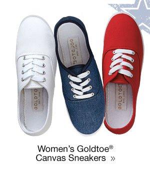 Women's Goldtoe Canvas Sneakers