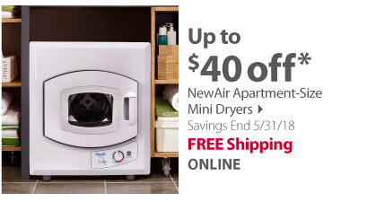 New Air Apartment Size Mini Dryer