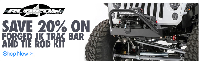 20% Off Rubicon Express Forged JK Trac Bar and Tie Rod Kit