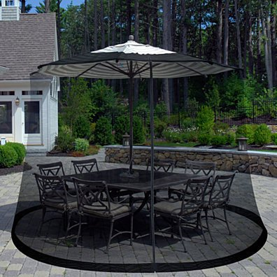 Pure Garden Outdoor Umbrella Screen - Black Fits 7.5 Feet Diameter Umbrellas