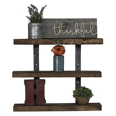 Industrial Grace 3-Tier Floating Shelves