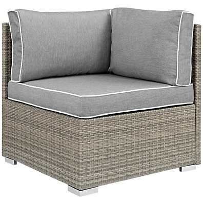 Repose Outdoor Patio Corner, EEI-2956-LGR-GRY