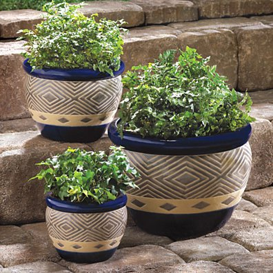 #13368 COBALT PLANTER TRIO