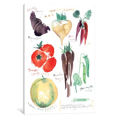 Antique Vegetables by Lucile Prache Canvas Print