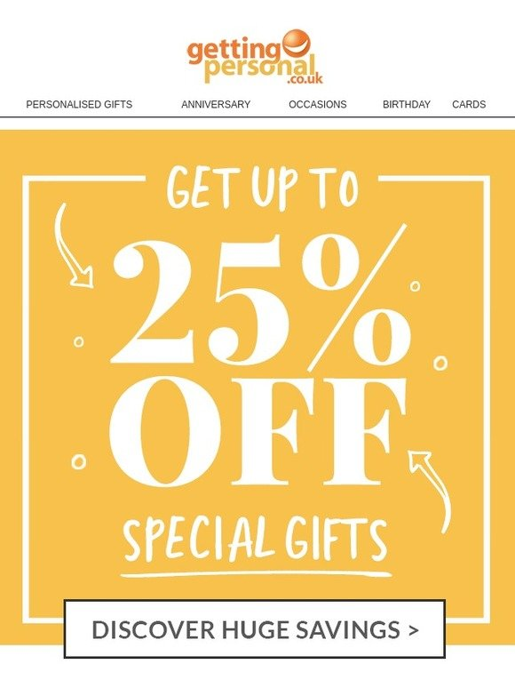 Getting Personal Whoa Save Up To 25 Off Amazing Presents Milled
