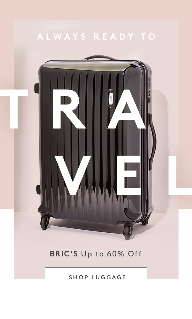Always ready to Travel | BRIC's Up to 60% Off | Shop Luggage