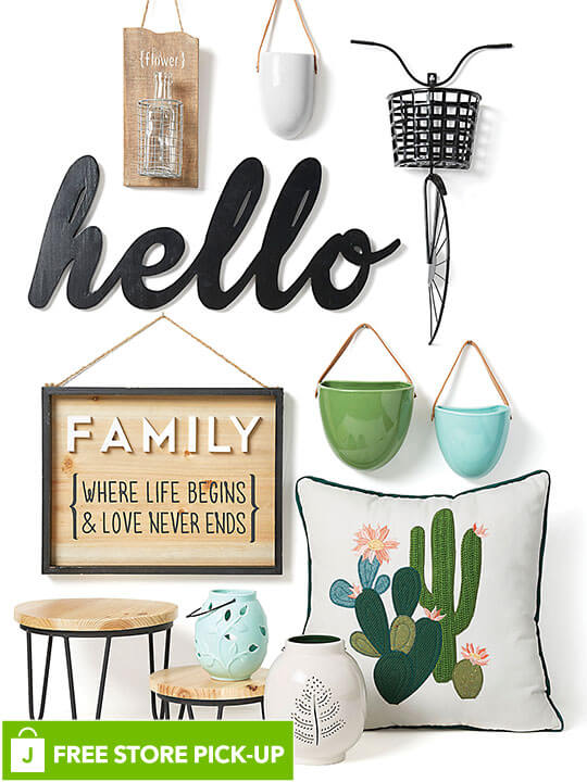 Spring Decor, Entertaining, Textiles and Candles. FREE In-Store Pick-Up.