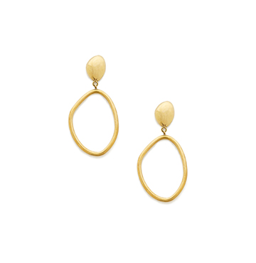 Soko Jewelry Sabi Large Drop Hoops $85
