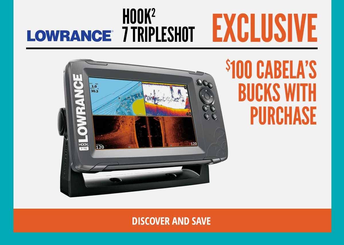 Lowrance Hook 2 - $100 Cabelas Bucks