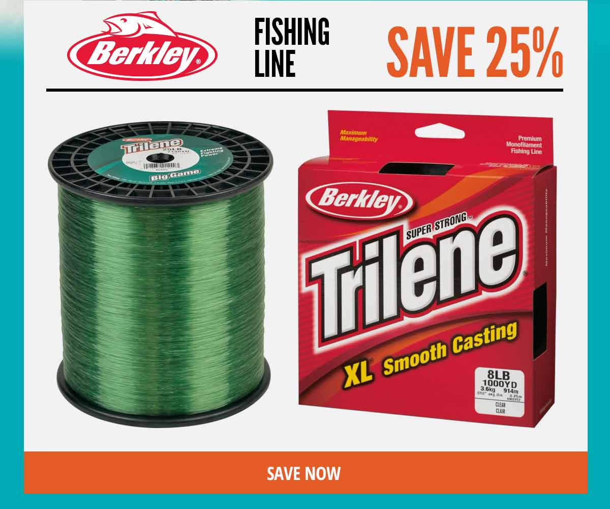 Save 25% on Berkley Fishing Line