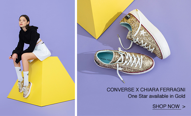 e73683408b59 Shop Now  Gold Converse x Chiara Ferragni One Star Platform