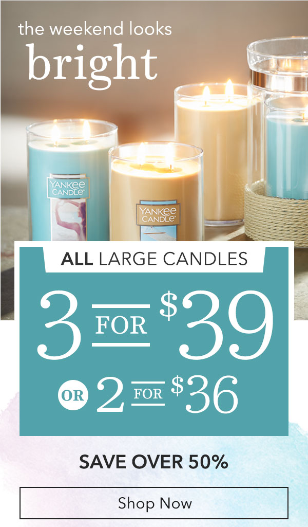 Yankee Candle Company Just In 2 For 36 Or 3 For 39