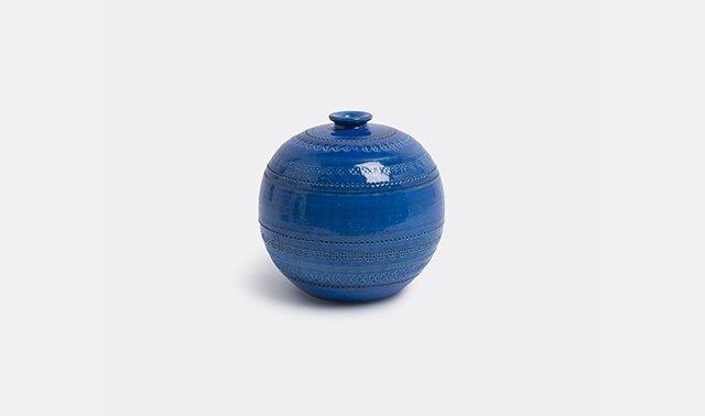 'Rimini blu' bowl vase by Aldo Londi for Bitossi Ceramiche