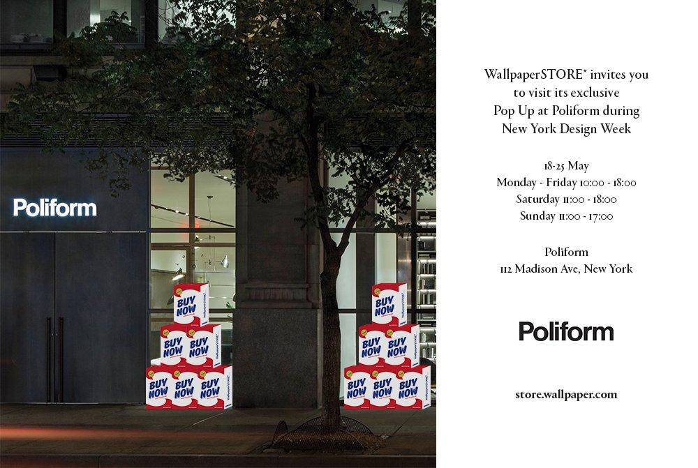 WallpaperSTORE* Pop Up at Poliform