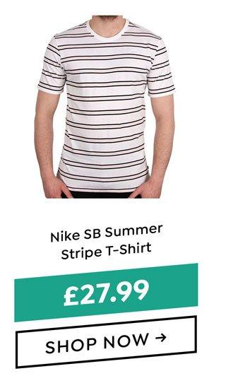 dfa2430e3c20 Nike SB Summer Stripe T-Shirt - White White