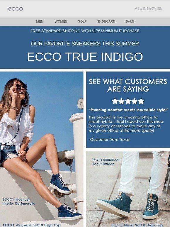New Styles ECCO Soft 8 High Top Men Indigo