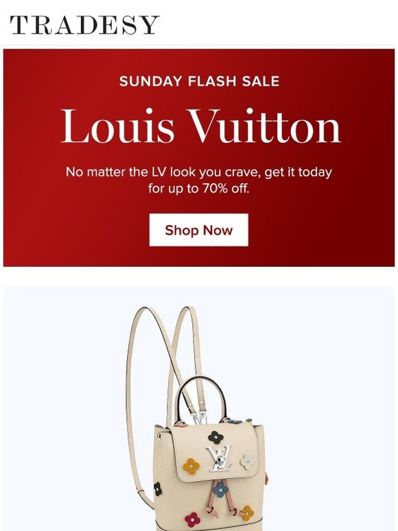3d30b98ebd0b Tradesy  Sunday-Only Sale  Louis Vuitton up to 70% off