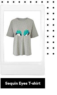 Sequin eyes t-shirt