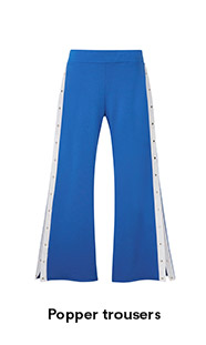 Popper trousers