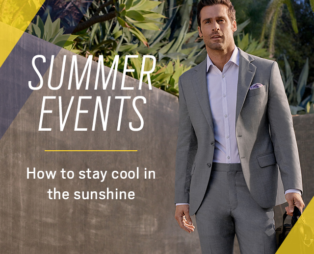a21c96acf3 Men s Wearhouse  How to stay cool at summer weddings