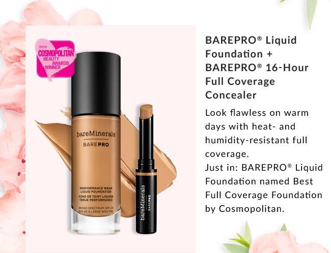 BAREPRO Liquid Foundation + BAREPRO 16-Hour Full Coverage Concealer